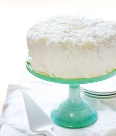 """Homemade Coconut Angel Food Cake!  For cupcakes & 6"""" rounds (line bottom w/parch paper & cool upside down), increase the temperature 25° to 350° and cook for 20 minutes, checking in 15 minutes"""