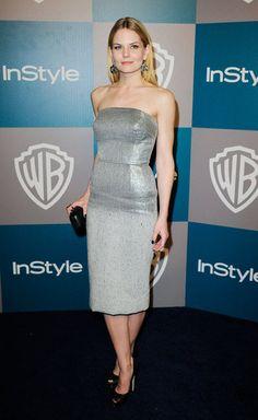 Jennifer Morrison in Victoria Beckham (2012 InStyle Golden Globes party)