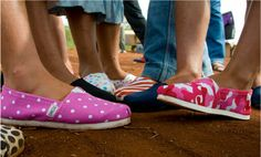 Tom's Shoes | With every pair of shoes purchased, a pair is donated to a child in need. #buyonegiveone