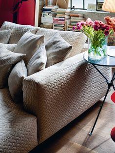Sectional sofa ALTOPIANO by @anotta | design Ludovica+Roberto Palomba interiors colour flowers