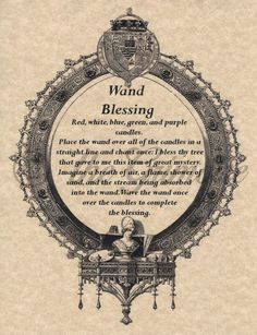 Wand Blessing, Book of Shadows Pages, Real Witchcraft Spell, Wicca, BOS in Collectibles, Religion & Spirituality, Wicca & Paganism   eBay