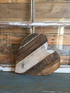 Our small heart is big on LOVE! Measuring approximately 1 ft by 1 ft, this sweet heart is created from reclaimed wood and is perfect for displaying just about anywhere! *Our wood products are sanded a