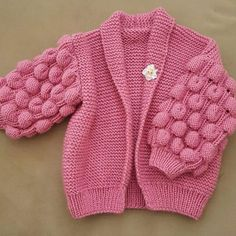 The Most Trending 35 Gorgeous Vest and Cardigan Knitting Models - Babykleidung Baby Knitting Patterns, Knitting Designs, Crochet Baby, Knit Crochet, Kids Poncho, Oversized Dress, Baby Cardigan, Baby Sweaters, Designer Dresses
