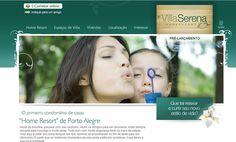 HotSite do empreendimento Villa Serena, da Famcorp.