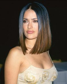 Salma Hayek Medium Straight Cut