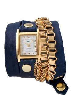Navy and Gold Watch
