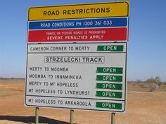 The Strzelecki track has long been the route of excited 4X4 travellers as they traverse between states and iconic outback townships. Named after Polish explorer and geologist Sir Pawel (Paul) Edmund Strzelecki, the Strzelecki track is at risk of being removed from the bucket lists of future travellers. Over many years, the ever expanding oil and gas fields of Moomba and the Cooper Basin have seen increasing sections of the track sealed in order to ... Kakadu National Park, Australia Travel Guide, Ends Of The Earth, Road Conditions, Great Barrier Reef, Oil And Gas, Funny Signs, Bucket Lists, Beautiful Beaches
