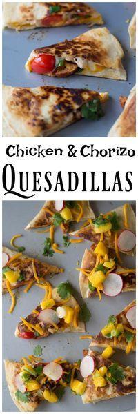 Chicken & Chorizo Quesadillas | Chicken Quesadillas | Sausage Quesadillas | Cheese Quesadillas | Easy Homemade | Quick Family Dinners
