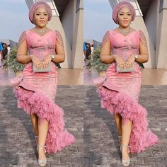 The trendy Asoebi fashion styles at the moment. Nigerian Lace Dress, African Lace Dresses, Latest African Fashion Dresses, African Dresses For Women, African Attire, Cord Lace Styles, Lace Gown Styles, Derby Outfits, Aso Ebi Styles