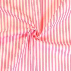 Baumwollstoff Streifen Classic Farbe Rosa-Weiss 13887
