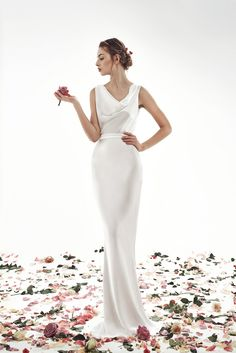 Свадебное платье Джилиан 1930s Wedding, Tea Length Skirt, City Hall Wedding, Bridal Separates, Crepe Skirts, Modest Wedding Dresses, Wedding Looks, Simple Weddings, Dream Dress