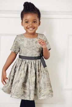 Silver Jacquard Dress (3mths-6yrs) from Next