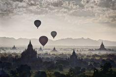 Los mil templos de Bagán, en la antigua Birmania, ahora Myanmar.