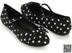 5. #Polka Dot Flats - 7 #Adorable Bow Flats for #Summer ... → #Shoes #Cutoff