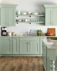 46 cute and small kitchen design ideas. Small kitchen design ideas should be ways you come up with to save as much space as possible while having everything you . Home Depot Kitchen, Kitchen Remodel, Modern Kitchen, Cottage Kitchen Design, Green Kitchen Designs, Home Kitchens, Kitchen Style, New Kitchen Cabinets, Kitchen Renovation