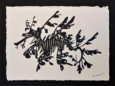 Leafy Sea Dragon, Dragon Silhouette, Marine Fish, Adventures In Wonderland, Wood Print, Art Forms, Paper Cutting, Original Artwork, Graphic Design