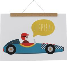 Poster racing car A3 by Ava&Yves