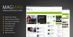 MagMan Magazine – News Magazine Theme Free Download