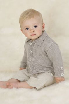 baby knitting pattern for   boys car coat dk wool birth to 2 years, £1.55