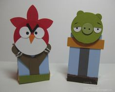 Angry Birds with Stampin Up punches ... how funny!