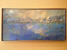 """Clearing"" acrylic 48""x24"", by Carla McGillivray"