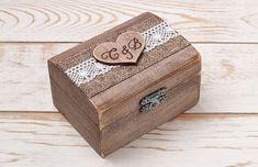 Rustic Wedding Ring Box Wedding Ring by InesesWeddingGallery