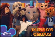 Dumbo's Circus. Since I didn't have The Disney Channel, I had to watch this at a friend's house (and I was jealous!). Watching clips of it now, it is incredibly cheezy - and who is that human in this picture? Did I totally forget this show?