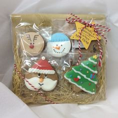 christmas holiday gift icing cookie