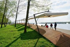 Waterfront walkway byRS+design, Paprocany Lake,  Poland. Click image for full profile and visit the slowottawa.ca boards >> http://www.pinterest.com/slowottawa