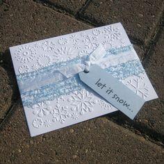 5 Handmade Christmas Cards - Snowflakes - let it snow.... $10.00, via Etsy.