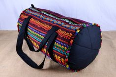 Handmade Guatemalan duffle bag in brilliant colors! Check out this item in my Etsy shop https://www.etsy.com/listing/212869202/extra-large-guatemalan-wooden-loom