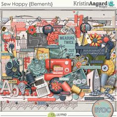 Kit: Sew Happy by Kristin Aagard Designs  http://the-lilypad.com/store/digital-scrapbooking-elements-sewhappy.html http://the-lilypad.com/store/digital-scrabooking-pack-sewhappy-papers.html