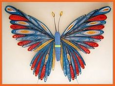 Elaborately quilled butterfly