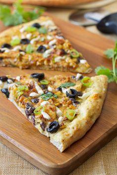 Huhn Enchilada Pizza |  Rezept-Runner |  Pizza inspiriert von leckeren Hähnchen Enchiladas!  #Hühnchen-Pizza