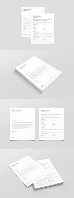 Pages Professional Resume  Cv Booklet Template Indesign Indd
