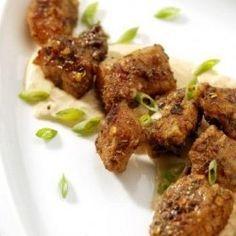 YUM! Jerked Louisiana Alligator Bites with Chipotle Mango Lime Dipping Sauce recipe - #alligatortasteslikechicken