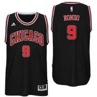 Bulls #9 Rajon Rondo 2016 Road Black New Swingman Jerse