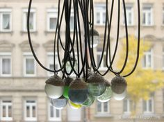 Acorn hat + glass or clay marble = A gorgeous piece of jewelry. German tutorial by Die Raumfee. ♥♥