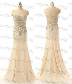 Long women formal evening dress,cap sleeve beading/sequins tulle prom dress,mermaid evening dress,handmade party dress