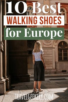 Best Women's walking shoes for Europe travel - see a list of the best shoe picks for Europe for fall and winter (and summer too). The best walking shoes for European travel are cute and stylish enough to match your outfit and still be comfortable for all day walking, even on cobblestone streets. Travel Shoes Europe #shoes #europe #travel #walkingshoes #travelgeekery Best Shoes For Travel, Best Travel Gifts, Travel Shoes, European Travel Tips, European Destination, Travel Items, Travel Products, Europe On A Budget, Best Walking Shoes