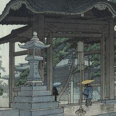 Zentsuji Temple in Rain, 1937 by Kawase Hasui