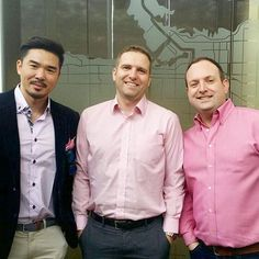 Lets end bullying and build communities that bring us together!  Harry Tseng, Jeff Appelbe, and Greyden Douglas @raincityproperties wore pink to work today to show their support for the cause!  #Pinkshirtday #Oakwyn #Oakwynites #TeamOakwyn #RealEstateNerds #Vancouver #WestCoast #Oakwynlife #OakwynMakeItHappen #PNW