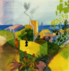 1914 aquarelle d' August Macke