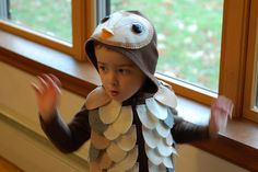 Will in his barn owl costume. By Eve Fox, the Garden of Eating, copyright 2012.