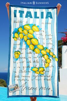 Italian beach towel - from a lovely company in Italy. Italian Summer, Italian Beach, Mamma Mia, Italian Fashion, Beach Towel, Italy, Dreams, Italia, Italy Fashion