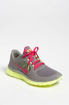 Nike 'Free Run 3' Running Shoe (Women) | Nordstrom - I WANT. and they are pink & green :)