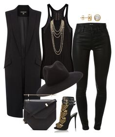 """""""Another Black Out"""" by fashionkill21 ❤ liked on Polyvore featuring Warehouse, J Brand, Rick Owens, Giuseppe Zanotti, rag & bone, Chanel, M2Malletier, women's clothing, women and female"""
