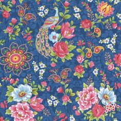 Blue Peacock Wallpaper | Pip | AmericanBlinds.com