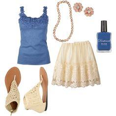 summer lace skirt, created by kelley-jiang