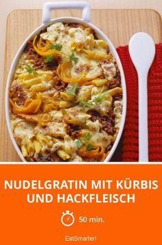 Nudelgratin mit Kürbis und Hackfleisch - smarter - Zeit: 50 Min.   eatsmarter.de